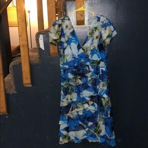Fashion Bug multi color dress size 16 EUC